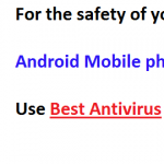 Best 4 Antivirus for Android smartphones