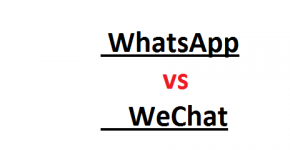 Competition between WhatsApp and WeChat