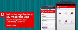 My Vodafone App launched by Vodafone India 300x119 My Vodafone App for Android, iOS and Blackberry launched by Vodafone India