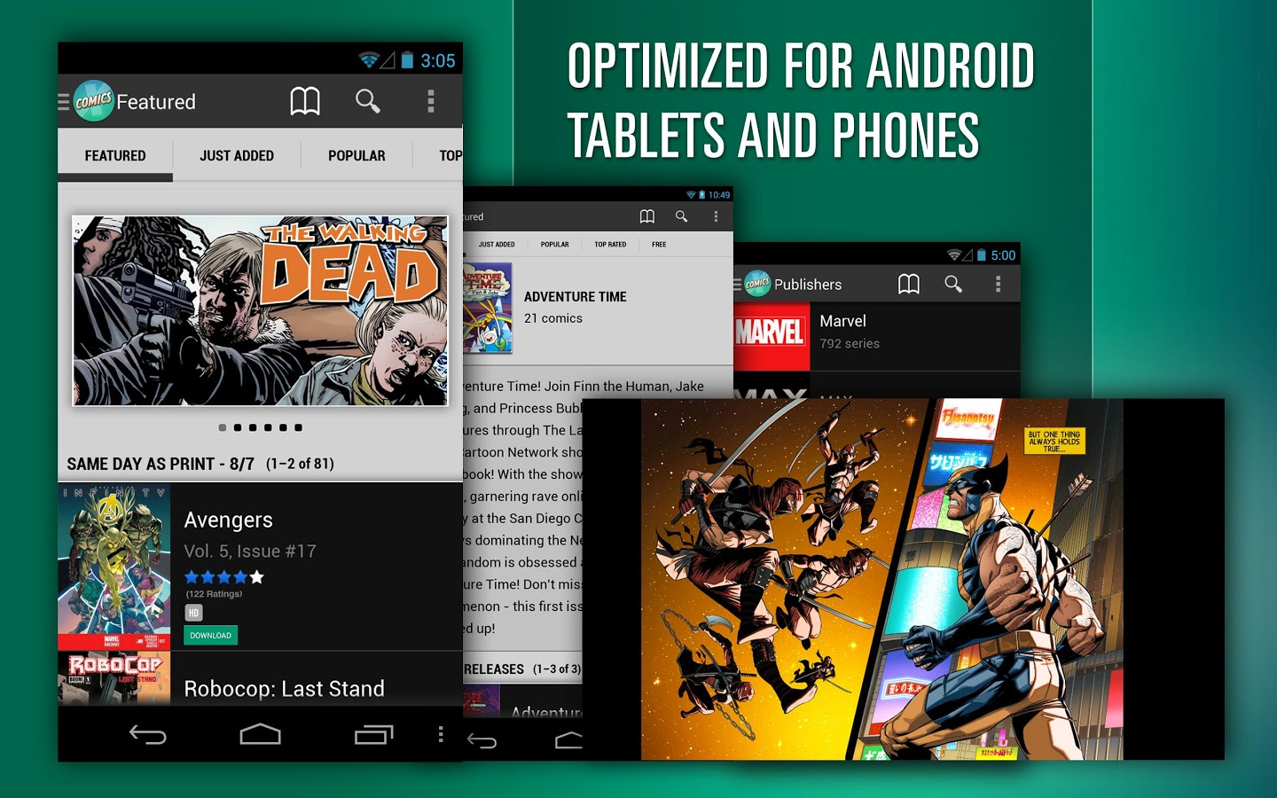 Read Comics and Novels on Android Smartphones