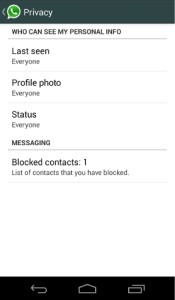 Privacy Features for WhatsApp