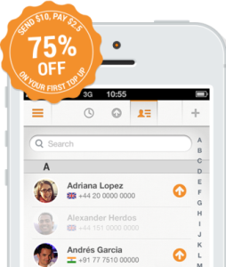 75% Discount Offer on First Recharge With Sendly App
