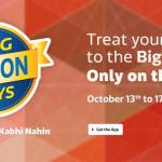 Flipkart's Big Billion Days Sale from 13th October 2015 (App Only)